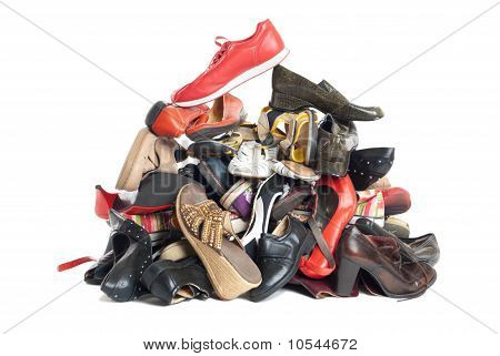 Pile Of Shoes | Isolated