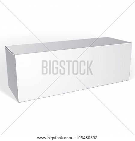 Package White Box Design Isolated On White Background, Template For Your Package Design, Put Your Im