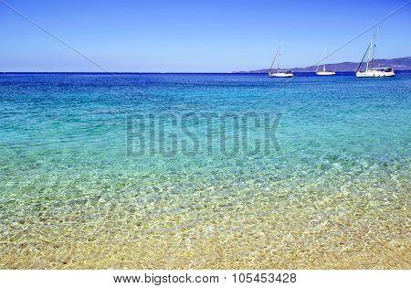 sailboats in Ionian sea Greece