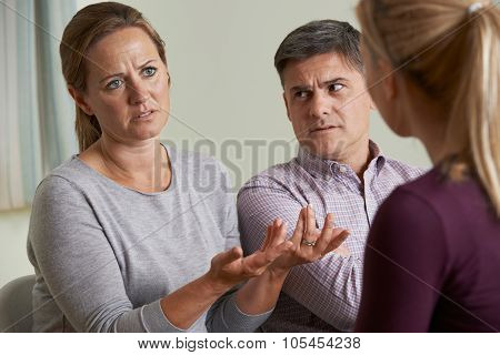 Couple Discussing Problems With Relationship Counsellor