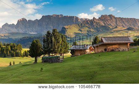 Chalets At Seiser Alm, South Tyrol, Italy