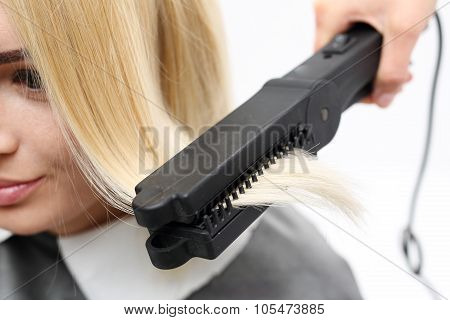 Iron barbershops, hair straightening.