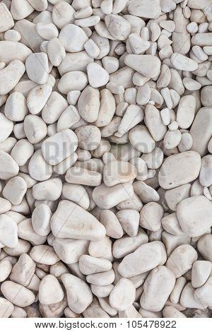 white pebbles background for design