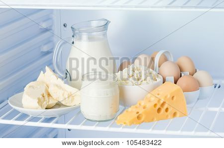 Eggs And Tasty Dairy Products