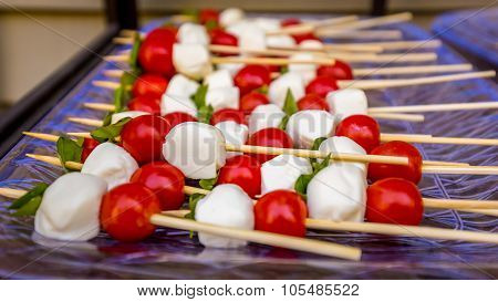Tomato And Mozzarella Caprese Skewers