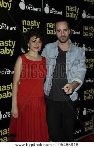 LOS ANGELES - OCT 19: Alia Shawkat, Sebastian Silva at the Premiere of Nasty Baby at ArcLight Cinemas on October 19, 2015 in Los Angeles, California.