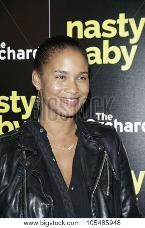 LOS ANGELES - OCT 19: Joy Bryant at the Premiere of Nasty Baby at ArcLight Cinemas on October 19, 2015 in Los Angeles, California.