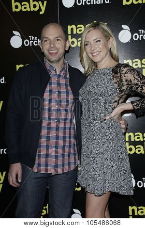 LOS ANGELES - OCT 19: Paul Scheer, June Diane Raphael at the Premiere of Nasty Baby at ArcLight Cinemas on October 19, 2015 in Los Angeles, California.