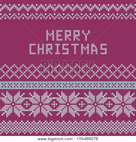 Norwegian, Christmas And Winter Seamless Patterns - Congratulation