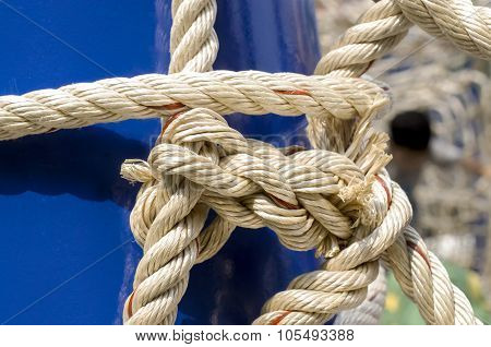 Rope And Knot On Background
