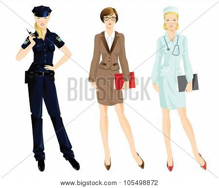 Set of professional woman