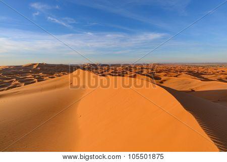 Africa, Morocco - view of Erg Chebbi Dunes - Sahara Desert - at sunrise