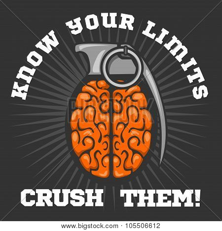 Psychological logo - Brain Grenade