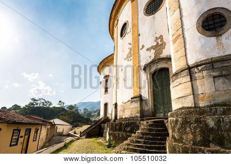 Nossa Senhora do Rosario Church in Ouro Preto, Minas Gerais, Brazil