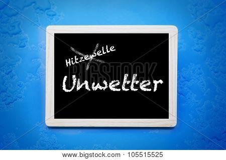German Words 'hitzewelle-unwetter