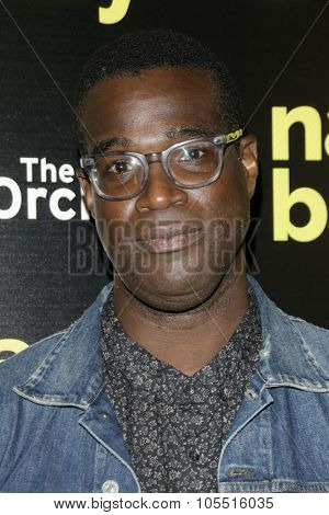 LOS ANGELES - OCT 19: Tunde Adebimpe at the Premiere of Nasty Baby at ArcLight Cinemas on October 19, 2015 in Los Angeles, California.