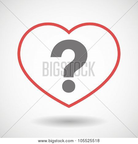 Line Heart Icon With A Question Sign