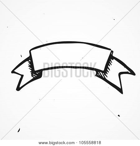 Hand drawn sign of history arms doodle element poster