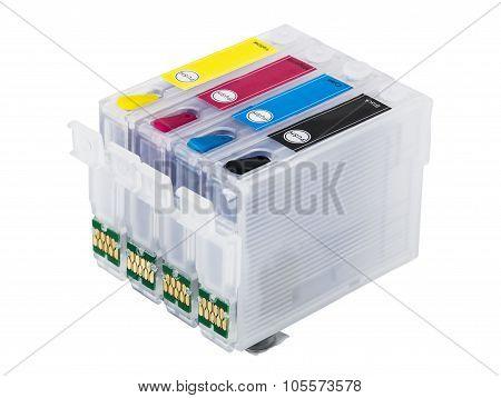 Empty Refillable cartridges For Colour Inkjet Printer