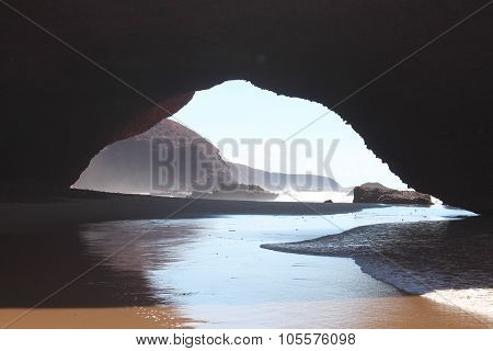 Arc on the Lezgira beach in Morocco. poster