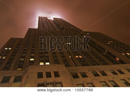 Moonlit Skyscraper, New York