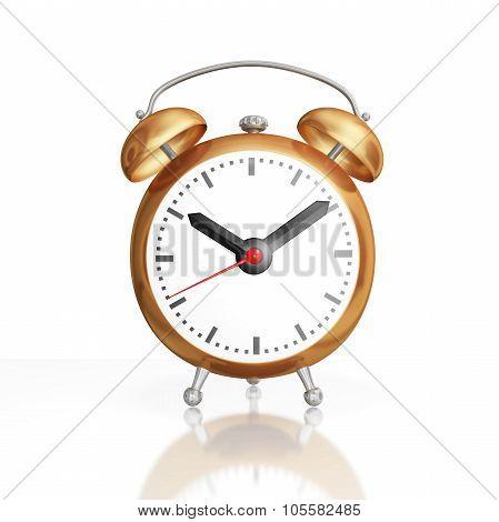 Antique Style Copper Alarm Clock
