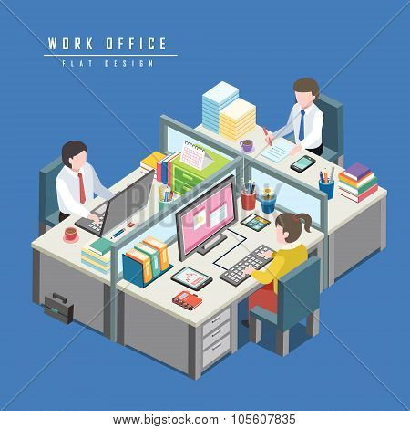 Work Office Concept