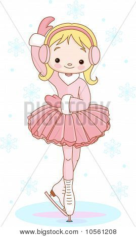 Girl On Ice Skates