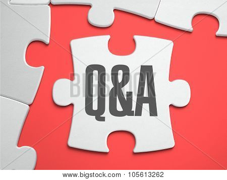 Q and A - Puzzle on the Place of Missing Pieces.