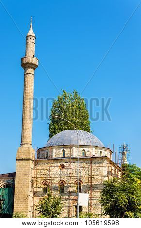 View of Carshi Mosque in Pristina - Kosovo poster