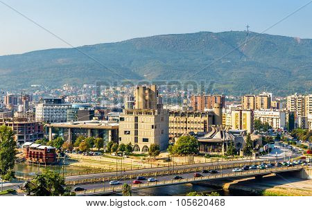 View of Skopje from the fortress - Macedonia poster