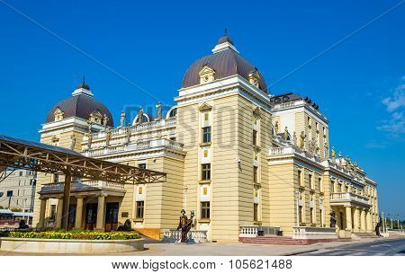 The National Theatre Of Macedonia In Skopje