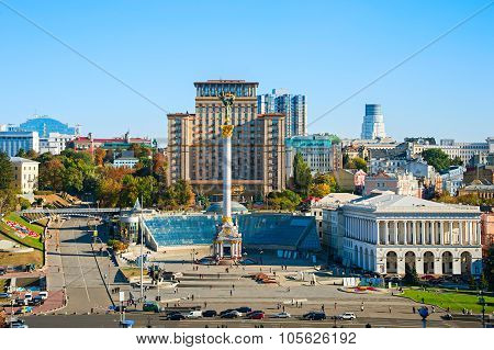 Independence Square Front View, Ukraine