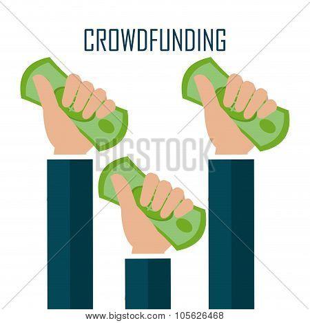Crowdfunding icon design.