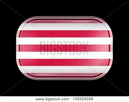 Indonesia Variant Flag Naval Ensign. Rectangular Shape with Rounded Corners. This Flag is One of a Series of Glass Buttons poster