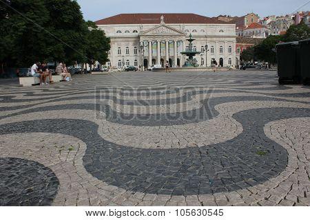 Dona Maria Teathre In Rossio Square