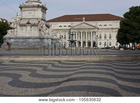 Dona Maria Theatre in Rossio square in Lisbon