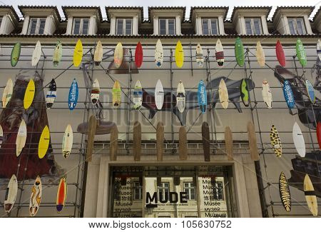The Facade Of Mude Museum Of Fashion And Design