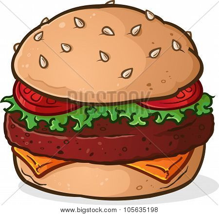 Big Juicy Hamburger Cartoon