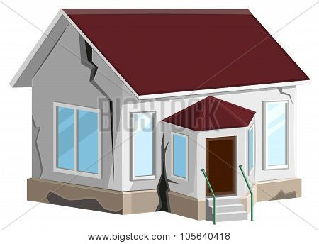 House destroyed. Cracks in walls of home. Property insurance. Errors construction