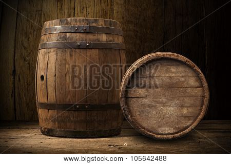 wooden barrel beer