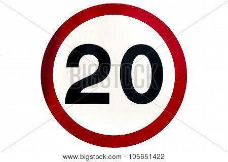 Speed limit sign 20 km/h
