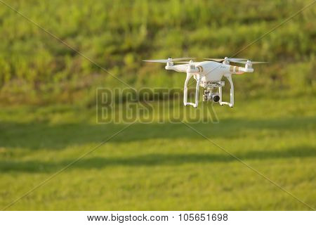Drone Above Field