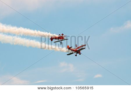 Breitling wing walking display team
