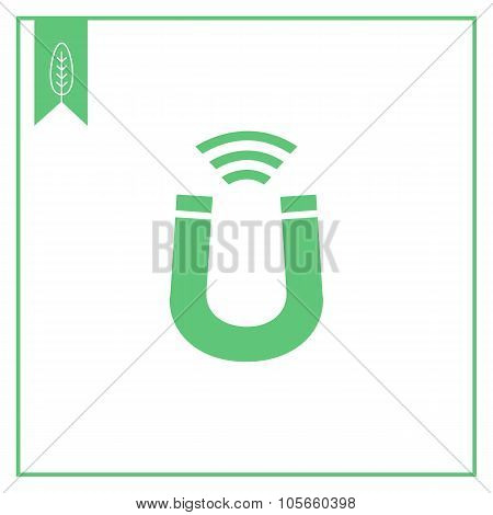 Magnet sign icon