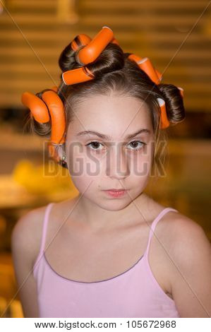 Girl In Hair Rollers