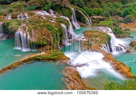 Bangioc waterfall in Caobang, Vietnam