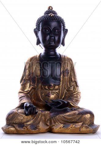 figure of meditating Buddha