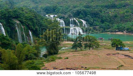 Bangioc (or Detian) waterfall in Caobang, Vietnam.