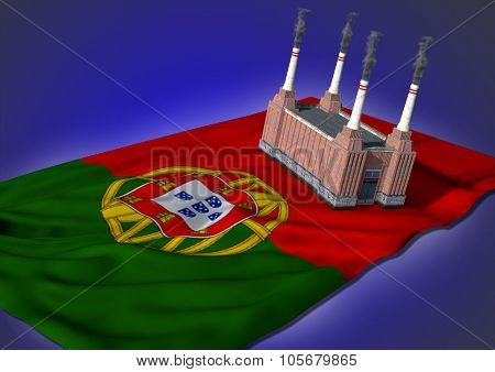 national heavy industry concept - Portugese theme